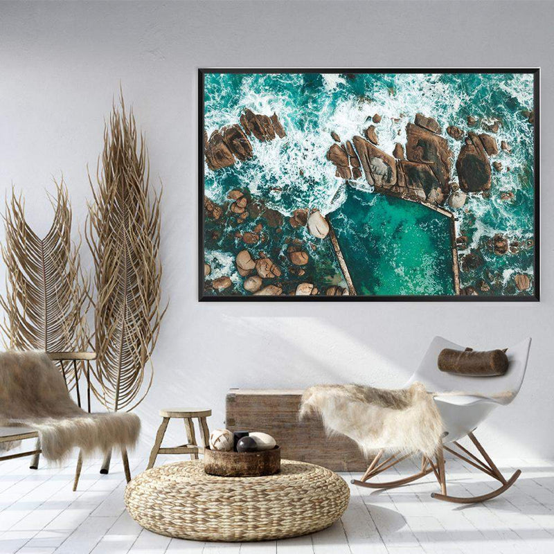Ocean Rock Pool II Photographic Wall Art Print or Poster By The Paper Tree.