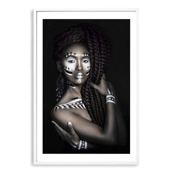 African Tribal Woman Art Print No.1