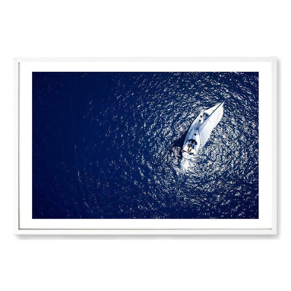 Sailing Boat On The Blue Art Print No.1