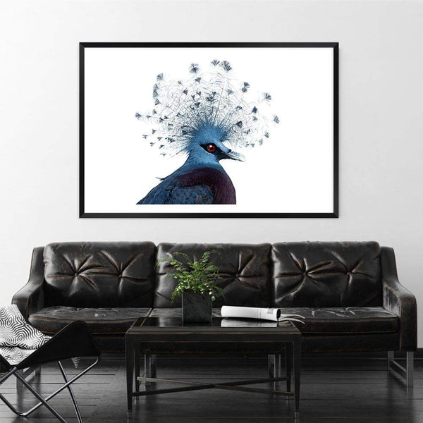 Victoria Crowned Pigeon Photographic Wall Art Print or Poster By The Paper Tree.