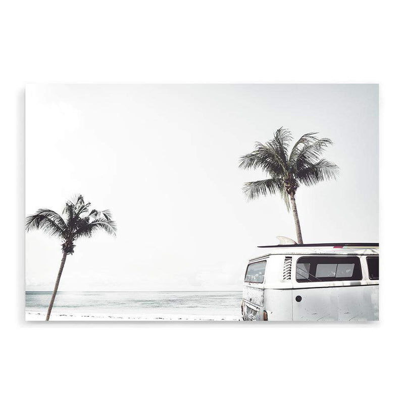 Combi By The Beach Photographic Wall Art Print or Poster By The Paper Tree.