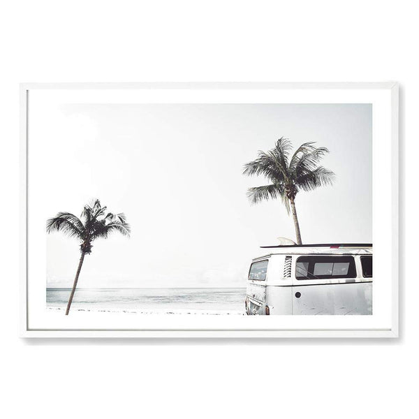 Combi By The Beach Art Print No.1