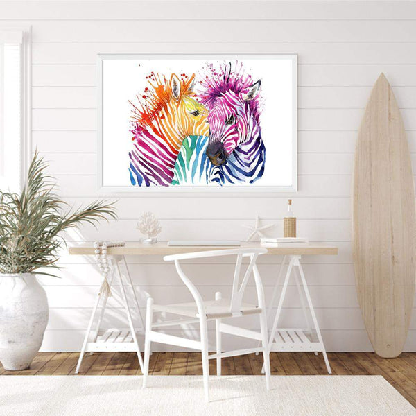 Watercolour Zebra Art Print No.1