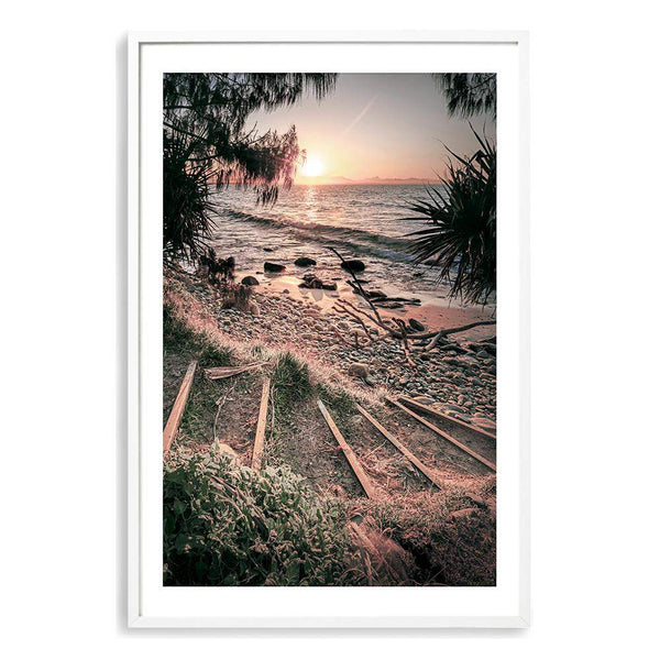 Sunset At Wategos Photographic Wall Art Print or Poster By The Paper Tree.