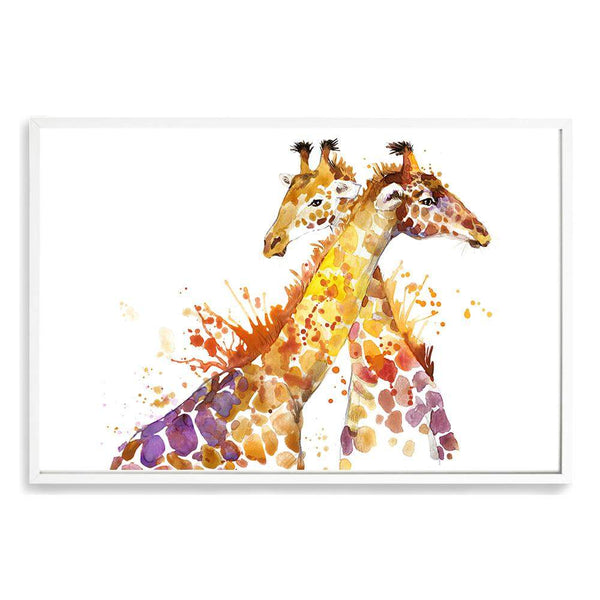 Watercolour Giraffe Art Print No.1