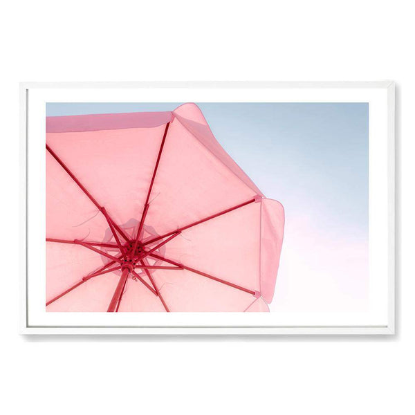 Pink Umbrella Art Print No.1