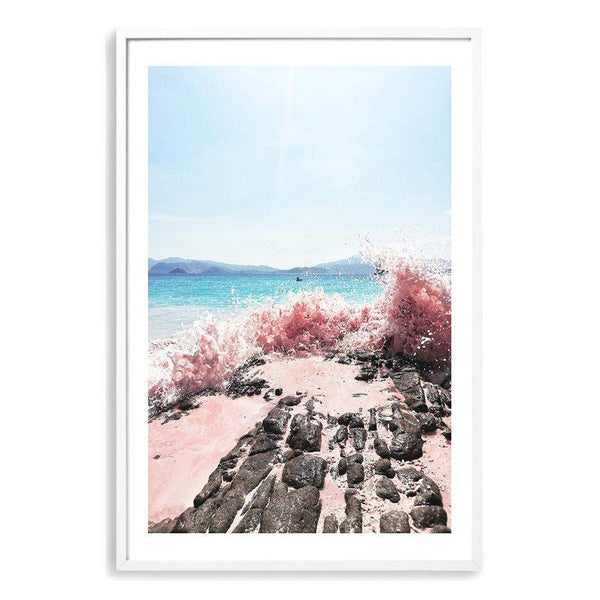 Pink Waves Art Print No.1