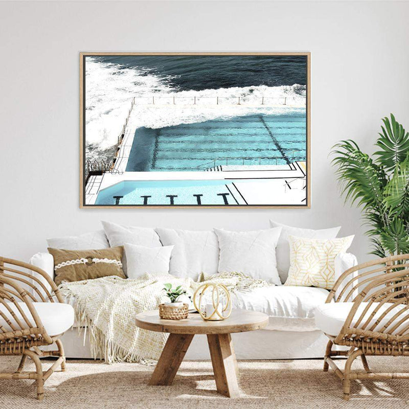 Bondi Beach Ocean Pool Photographic Wall Art Print or Poster By The Paper Tree.