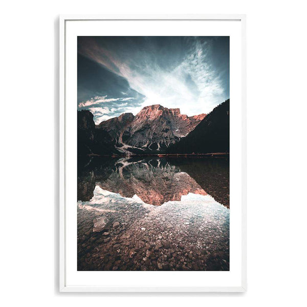 Braies Lake Photographic Wall Art Print or Poster By The Paper Tree.
