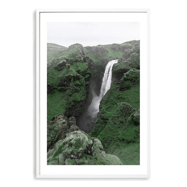 Waterfall On The River Skoga Photographic Wall Art Print or Poster By The Paper Tree.