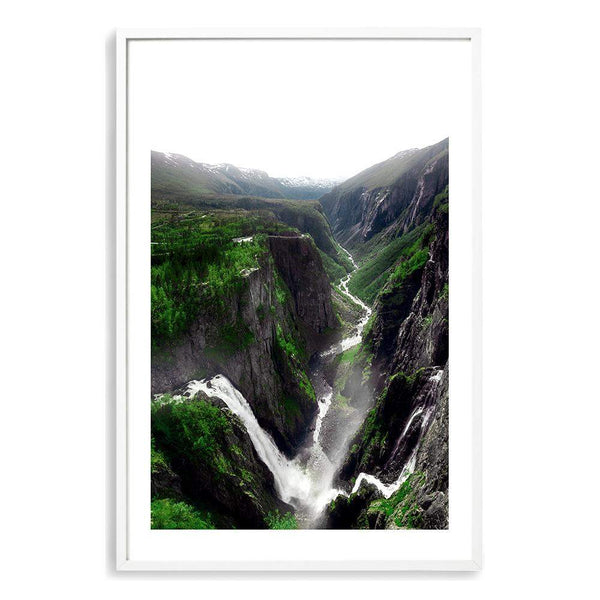 Voringsfossen Waterfall Photographic Wall Art Print or Poster By The Paper Tree.