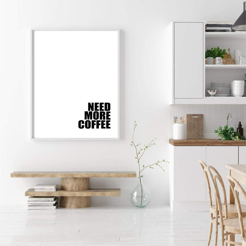 Need More Coffee Photographic Wall Art Print or Poster By The Paper Tree.