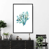 Blue Coral IIII Photographic Wall Art Print or Poster By The Paper Tree.