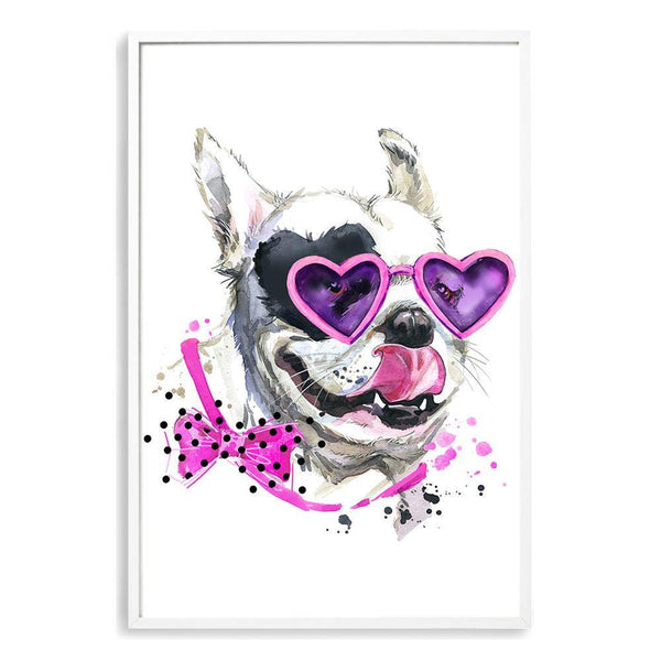 Watercolour Princess Pooches III Photographic Wall Art Print or Poster By The Paper Tree.