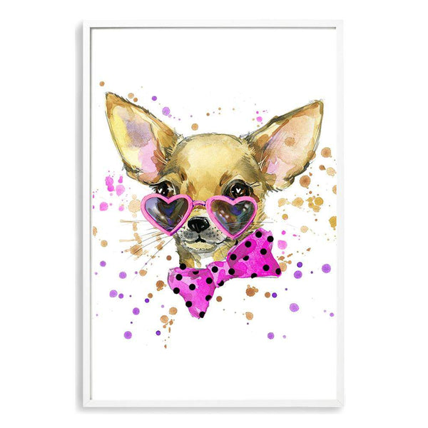 Watercolour Princess Pooches II Photographic Wall Art Print or Poster By The Paper Tree.