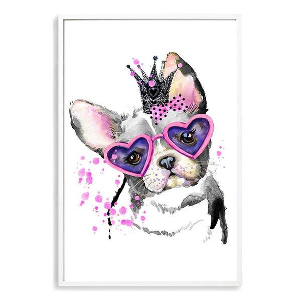 Watercolour Princess Pooches Photographic Wall Art Print or Poster By The Paper Tree.