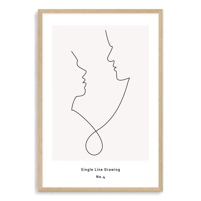 Single Line Drawing Art Print No.4