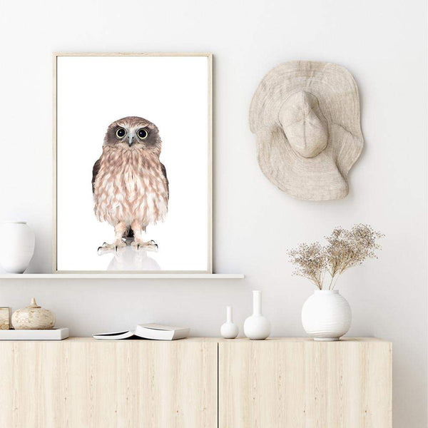 Baby Owl Photographic Wall Art Print or Poster By The Paper Tree.