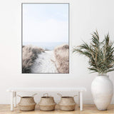 Path to Beach Photographic Wall Art Print or Poster By The Paper Tree.