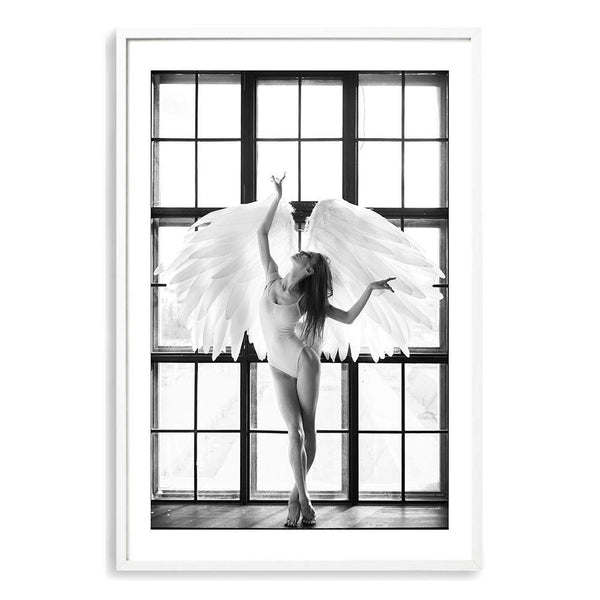 Angel Wings Photographic Wall Art Print or Poster By The Paper Tree.