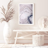 Pink Agate Photographic Wall Art Print or Poster By The Paper Tree.