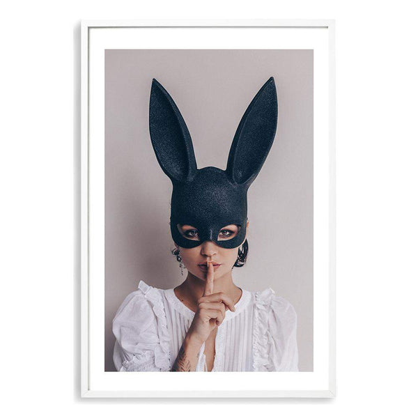 The Secret Bunny Photographic Wall Art Print or Poster By The Paper Tree.
