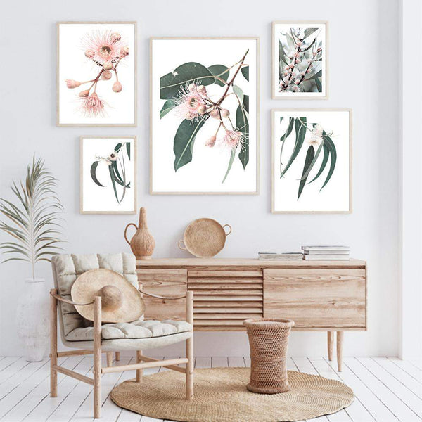 Eucalyptus Flower Gallery Art Print Set No.1 Photographic Wall Art Print or Poster By The Paper Tree.
