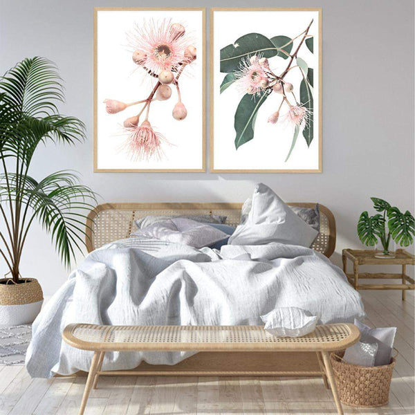 Set of 2 - Native Gum Eucalyptus Flower  & No.2 Photographic Wall Art Print or Poster By The Paper Tree.