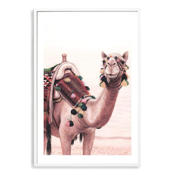 Painted Camel In The Desert Art Print No.1