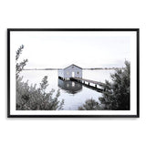 Boat House On The Bay Photographic Wall Art Print or Poster By The Paper Tree.