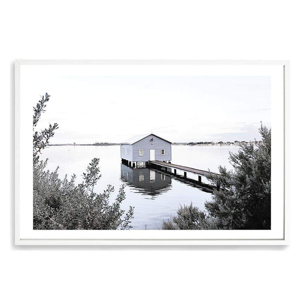 Boat House On The Bay Art Print No.1