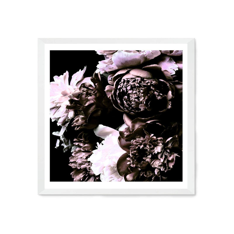 Shaded Florals Square Art Print No.1