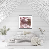 Dusty Pink Peonies Square Photographic Wall Art Print or Poster By The Paper Tree.