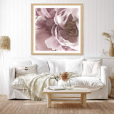 Dusty Pink Peonies Square Art Print No.1