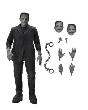 "Universal Monsters - 7"" Scale Action Figure - Ultimate Frankenstein's Monster (Black & White)"
