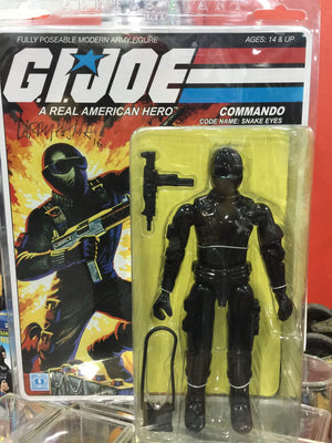 GI Joe Snake-Eyes Jumbo - signed by Larry Hama