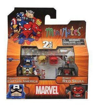 Marvel Minimates Series 54 – Fighting Chance Captain America And Robot Red Skull