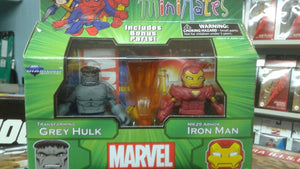 Marvel Minimates Best of Series 3 - Transforming Grey Hulk with Extremis Iron Man