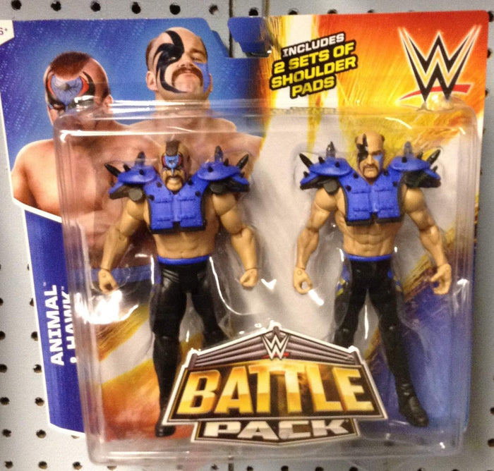 WWE Figure Two-Packs Series #34 Animal  / Hawk  with 2 sets shoulder pads