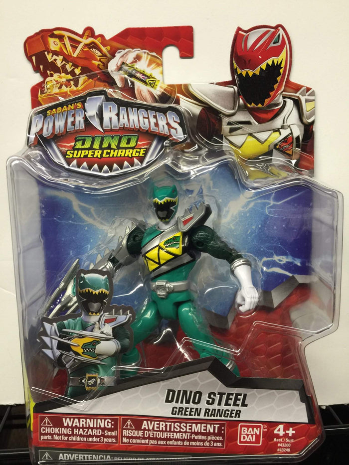 Dino Steel Green Ranger - Power Rangers Dino Super Charge 5In Action Figure