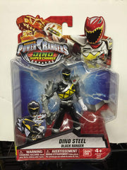 Dino Steel Black Ranger - Power Rangers Dino Super Charge 5In Action Figure