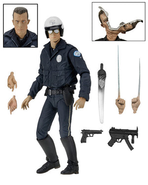 "Ultimate T-1000 (Motorcycle Cop) Terminator 2 - 7"" Scale Action Figure"