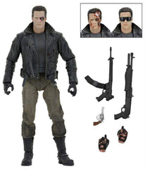 "Terminator - 7"" Action Figure - Ultimate Police Station Assualt T-800 (Motorcycle Jacket)"