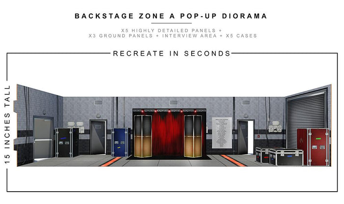 Backstage Zone Pop-Up Diorama 1:12 Scale