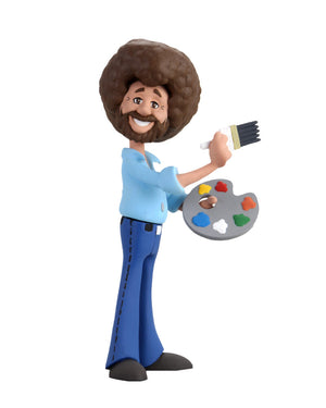 Bob Ross 6″ Scale Action Figure – Toony Classics Bob Ross