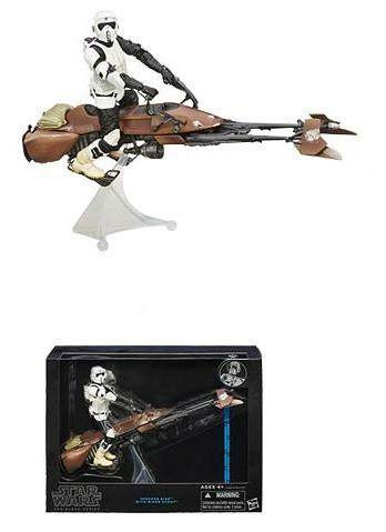 Star Wars Black Series 6-Inch Deluxe Action Figures Wave 1 - Speeder Bike with Biker Scout