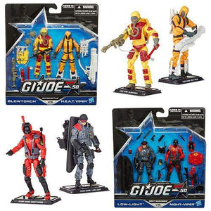G.I. Joe 50th Anniversary Action Figures 2-Packs Wave 1-Night Marksmen - Low-Light vs. Night-Viper