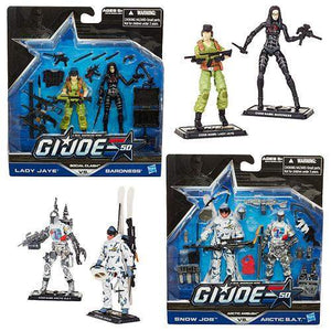 G.I. Joe 50th Anniversary Action Figures 2-Packs Wave 2 -  Arctic Ambush - Snow Job vs. Arctic B.A.T.