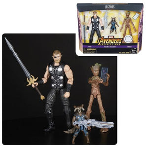 Avengers Infinity War Marvel Legends Thor, Rocket Raccoon, and Groot 3 Pack (Toys R Us Exclusive)