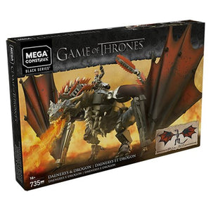 Game of Thrones Mega Construx Daenerys and Drogon Playset